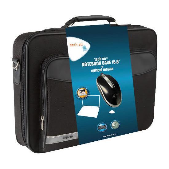 """Techair 15.6"""" Bag and Mini Optical Mouse"""