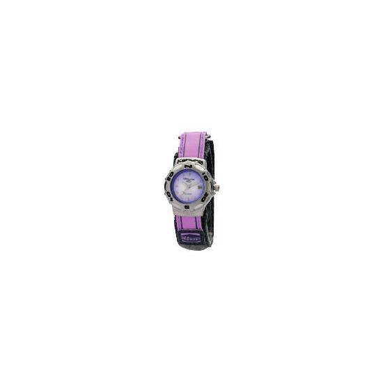 Kahuna Ladies Lilac Velcro Strap Watch