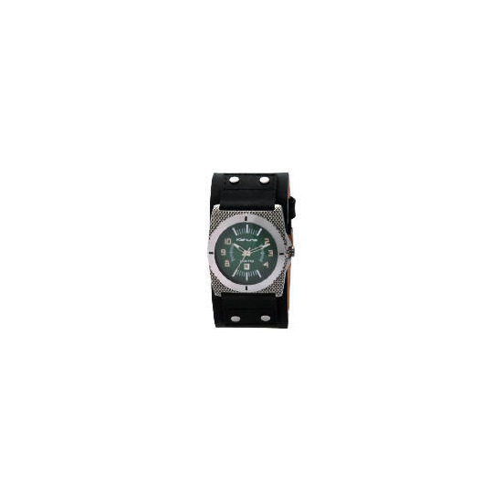 KAHUNA GENTS BLACK CUFF STRAP WATCH