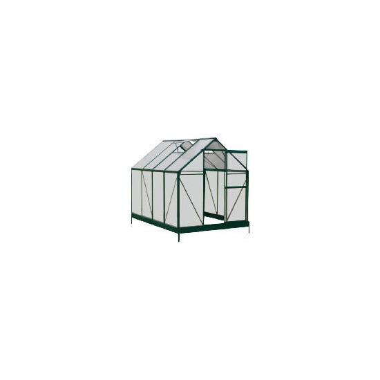 6 x 8 Aluminium & Polycarb Greenhouse