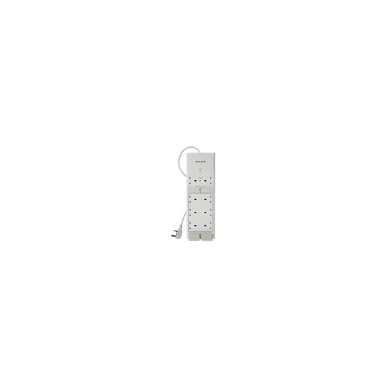 Belkin Conserve Energy Saving 8-Outlet Surge Protector with Remote Switch - Surge suppressor - 8 Output Connector(s)