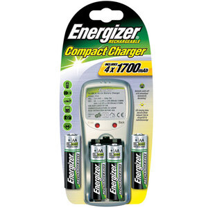Photo of Energiser Compact Charger Plus 4 X AA Battery