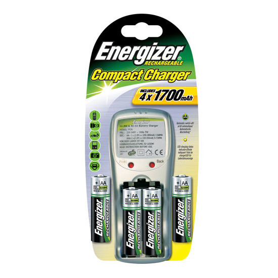Energiser Compact Charger Plus 4 x AA