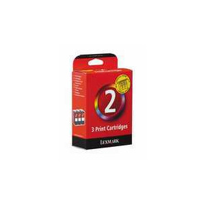 Photo of LEXMARK NO2TRIPLE PACK Ink Cartridge