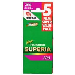 Fujifilm Superia 200 35MM 36 Exposure Pack Of 5 Reviews