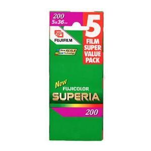 Photo of Fujifilm Superia 200 35MM 36 Exposure Pack Of 5 Camera Film
