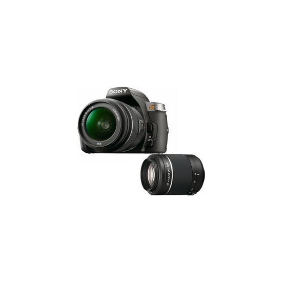 Sony Alpha DSLR-A330Y with 18-55mm and 55-200mm lenses