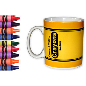 Photo of Crayon Mug - Custard Yellow Kitchen Accessory