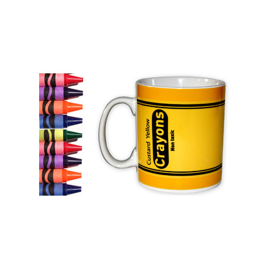 Crayon Mug - Custard Yellow
