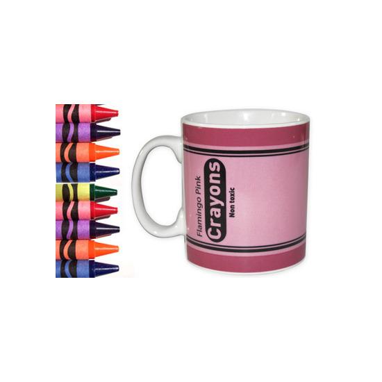 Crayon Mug - Flamingo Pink