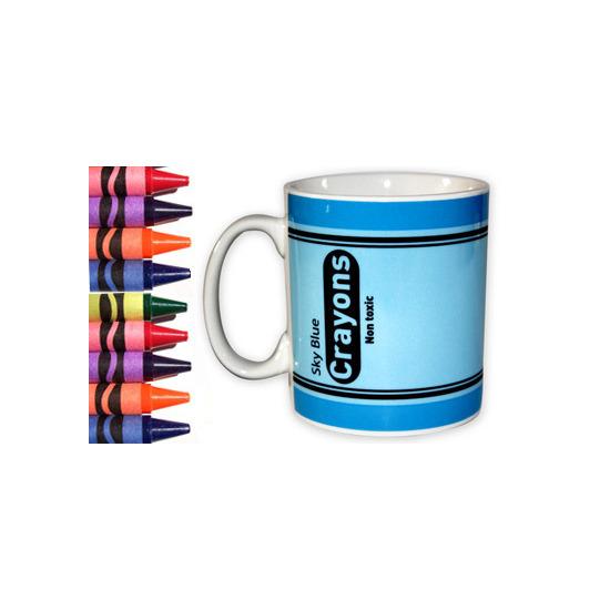 Crayon Mug - Sky Blue