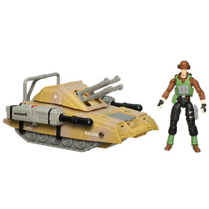 Photo of g.I. Joe 9.5CM Alpha Vehicles With Figure - Armoured Panther With SGT. Thunderblast Toy