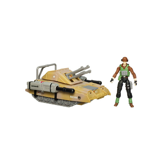 G.I. Joe 9.5cm Alpha Vehicles with Figure - Armoured Panther with Sgt. Thunderblast