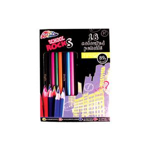 Photo of School Rocks 18 Coloured Pencils Toy