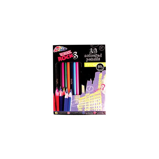 School Rocks 18 Coloured Pencils