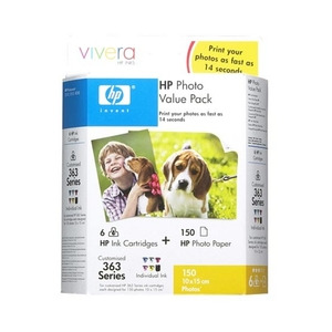 Photo of Original HP No.363 Tri-Colour (Cyan Magenta Yellow) Printer Ink Cartridge CB333EE Ink Cartridge