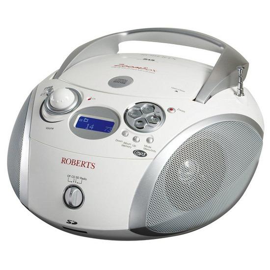 ROBERTS ZoomBox Portable DAB Radio - White