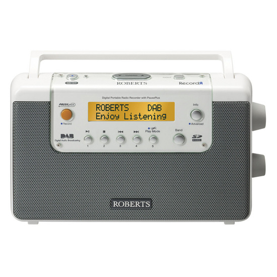 RecordR Portable DAB Radio - White