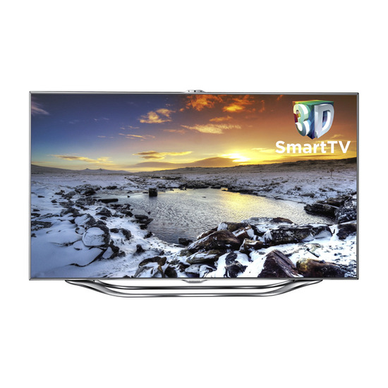 """Samsung Series 8 UE40ES8000 Full HD 40"""" LED 3D TV with free BD-E6100 3D Blu-ray player"""
