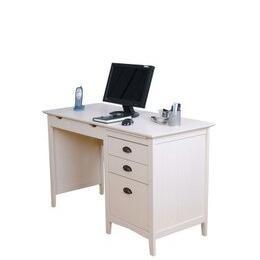 Teknik New England White Desk with Drawers