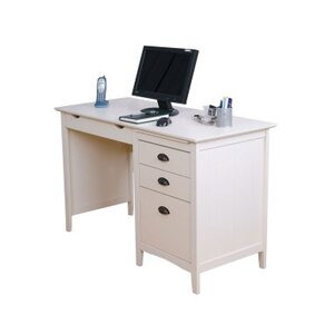 Photo of Teknik New England White Desk With Drawers Computer Desk