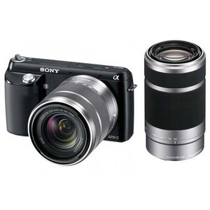 Photo of Sony Alpha NEX-F3 Digital Camera With 18-55MM and  55-210MM Twin Lens Kit Digital Camera