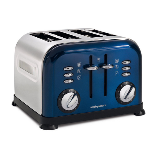 Morphy Richards Accents 44730 4-Slice Toaster - Blue