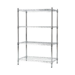 Photo of Contemporary Shelving 4 Shelf Unit 1625 X 910 X 410MM Office Furniture