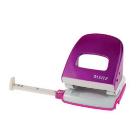 LEITZ WOW Nexxt Metal Punch, Up to 30 Sheets - Pink