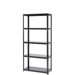 5 Tier Boltless Shelving Unit - Black 1500h x 700w x 300d Reviews