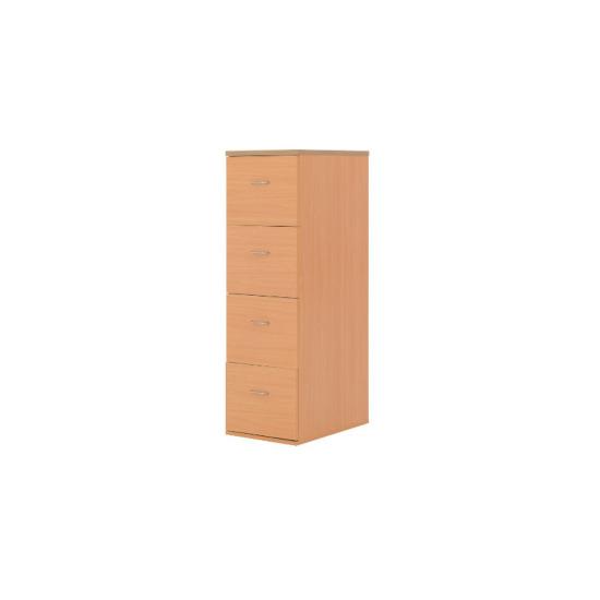 Newbury four drawer filing cabinet beech-effect