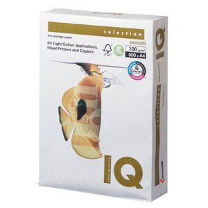 Photo of IQ Selection Printer Paper A4 White 100GSM Printer Accessory