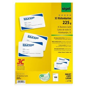 Photo of Sigel LP798 Business Cards, 3C 100/ Packs Stationery