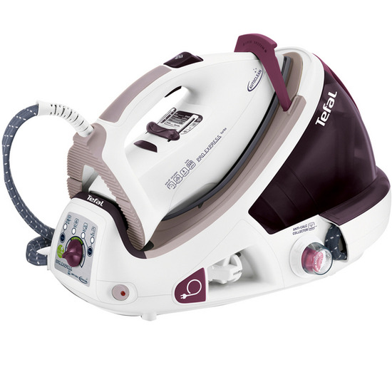 Tefal Pro Express Autoclean GV8471 Steam Generator Iron - White & Burgundy