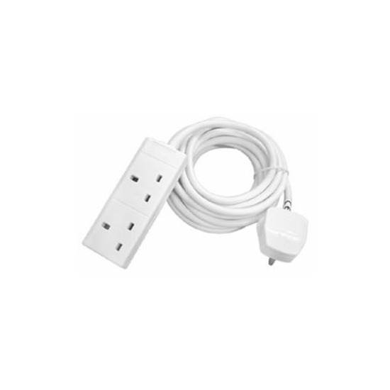 2 Socket Extension Lead with Power Protection