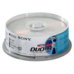 Sony DVD+R 25 Pack Spindle Reviews