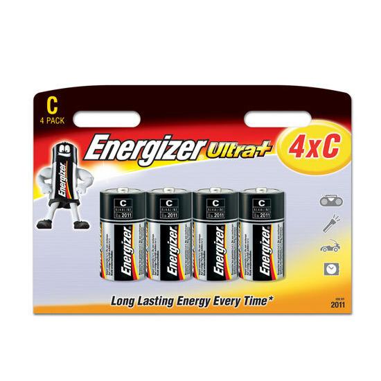Energizer Ultra Plus Batteries - 4 x C