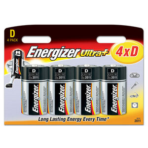 Photo of Energizer Ultra Plus Batteries - 4 X D Battery