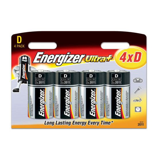 Energizer Ultra Plus Batteries - 4 x D