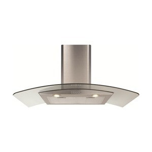 Photo of CDA ECP92 Cooker Hood With Curved Glass Chimney Extractor Cooker Hood