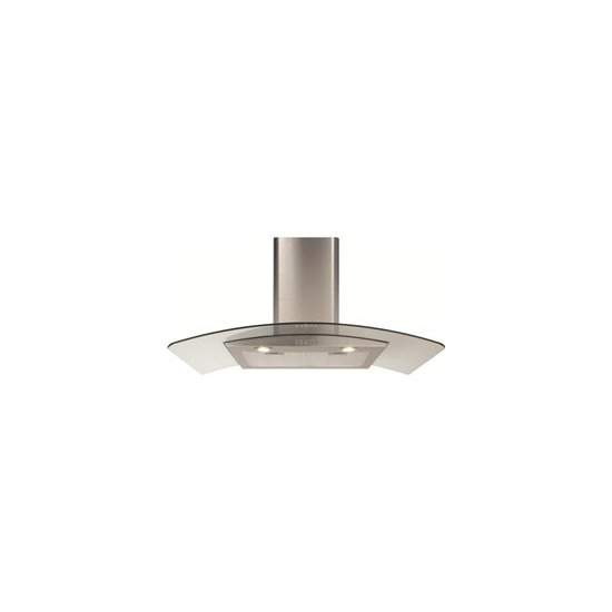CDA ECP92 Cooker Hood with Curved Glass Chimney Extractor