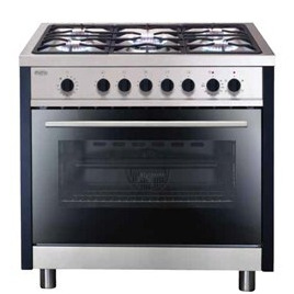 Matrix Single Oven Multifunction 90cm Dual Fuel Range Cooker in Stainless Steel Reviews