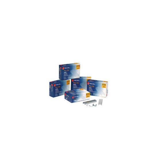 Rexel Standard Staples No. 56-6mm (5000/Bx)