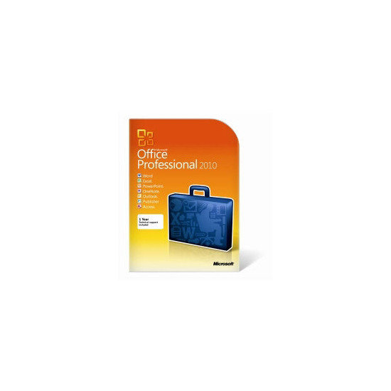 Microsoft Office 2010 Professional 1 User PC DVD
