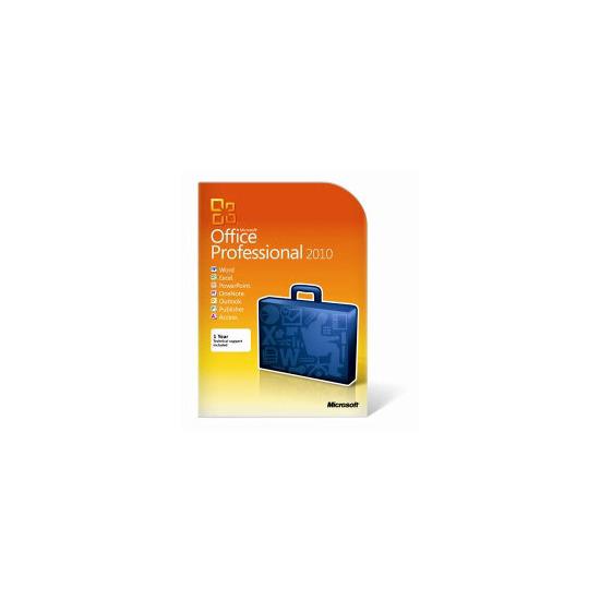 Microsoft Office 2010 Professional 1 User PC DVD