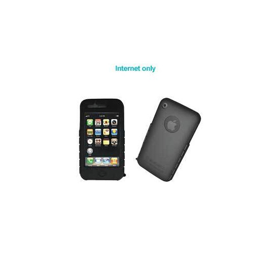 iPhone 3G Black Silicone Skin and Screen Protector