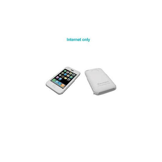 iPhone 3G White Silicone Skin and Screen Protector
