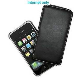 iPhone 3G Black Leather Swivel Case
