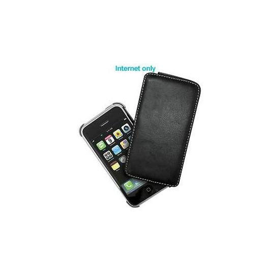 iPhone 3G Black Leather Swivel Case