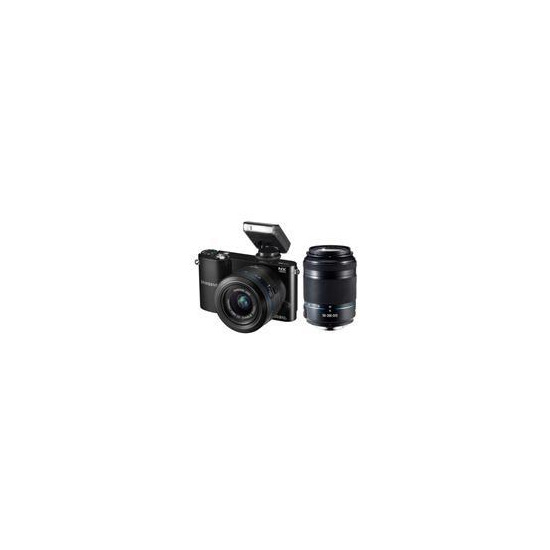 NX1000 Compact System Camera in Black with 20-50 and 50-200mm Lenses
